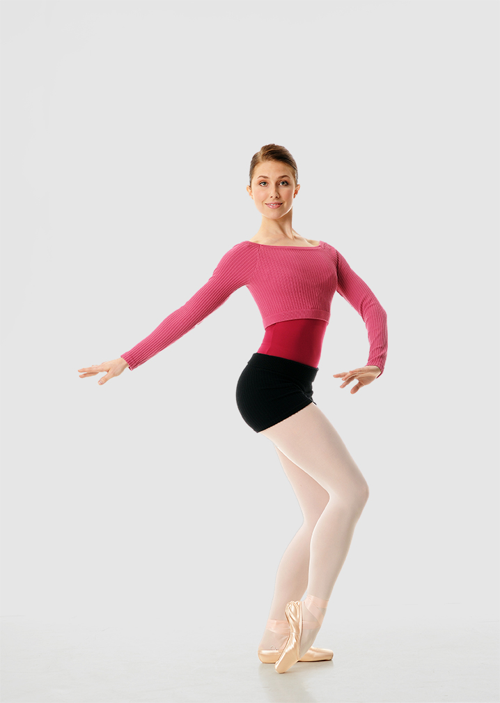 Gaynor Minden Bamboo Crop Top Warm Up Ballet Dance Dancewear
