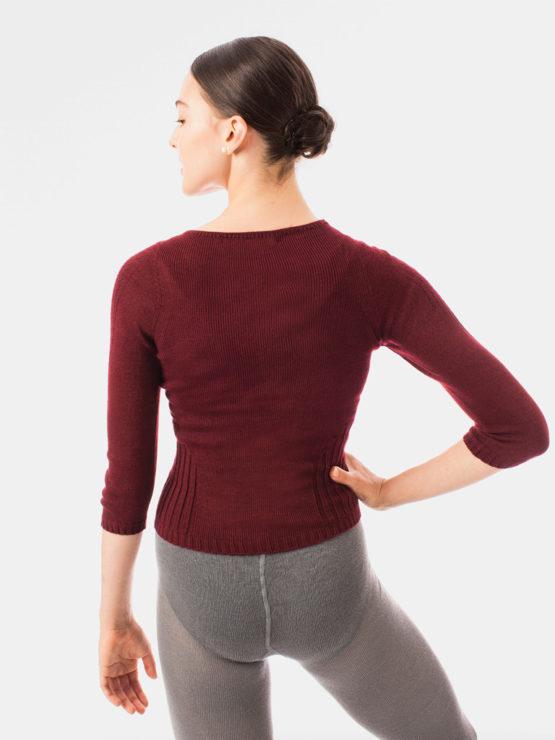 Italian Knit V Neck Top Back BOR